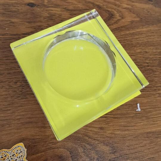 贝鲁斯 水晶烟灰缸 欧式创意大号烟灰缸办公室酒店客厅摆件印字印标 透明10厘米 晒单图