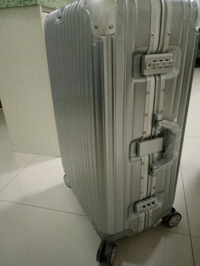 【一体化铝框 11万好评】EAZZ铝框拉杆箱万向轮行李箱男女士登机箱20寸24寸28寸旅行箱26定制 高端 铝框-玫瑰金 20英寸-登机箱(热卖) 晒单图