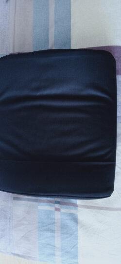 飞天 透气记忆棉腰靠加厚汽车腰垫加大办公室靠枕座椅靠背垫椅子腰部靠垫孕妇护腰枕抱枕 天鹅绒腰靠坐垫套装藏青 晒单图