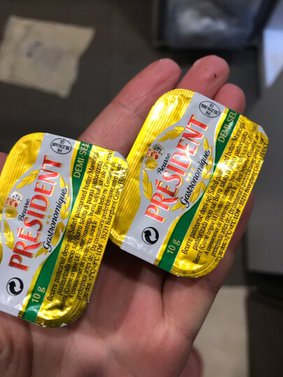 总统(President)发酵型动物咸味份装黄油 10g*6 法国进口(咸味 2件起售)烘焙原料 晒单图