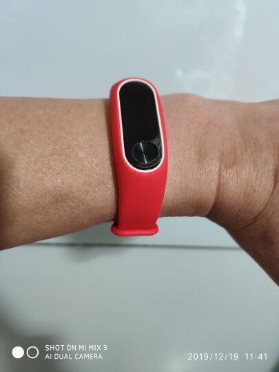 Gumei 适用于小米手环2腕带 表带配件2代替换带非皮革金属 黑白 晒单图