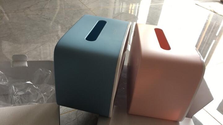 意可可(ecoco) 创意桌面纸巾盒客厅茶几收纳盒纸巾盒办公室塑料抽纸盒 北欧蓝 晒单图