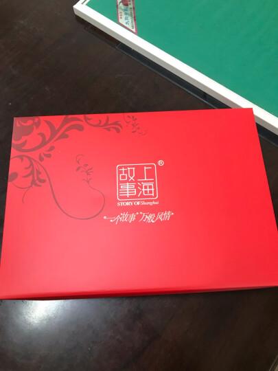 上海故事羊绒羊毛围巾男女款冬保暖围脖披肩177070 188028蓝桔色 晒单图