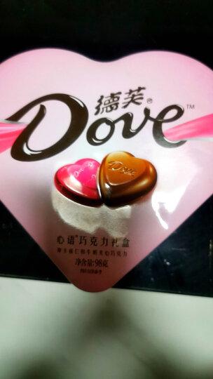 德芙 Dove心语夹心巧克力礼盒(两种口味混装) 送闺蜜98g(不含礼品袋)新老包装随机发货 晒单图