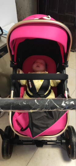 TEKNUM 英国婴儿推车高景观童车 宝宝可坐可躺双向避震折叠BB轻便手推车 粉红色3D立体减震顶配版【次日达】 晒单图
