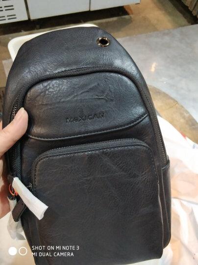 稻草人(MEXICAN)男士胸包休闲运动单肩包潮流旅行小背包复古斜挎男包MMD90023M-01黑色 晒单图