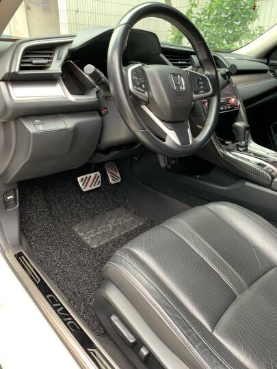 【入仓脚垫】固特异(Goodyear) 丝圈汽车脚垫 适用于2017-2020款奥迪A4L专用脚垫 飞足plus系后排分体黑色 晒单图