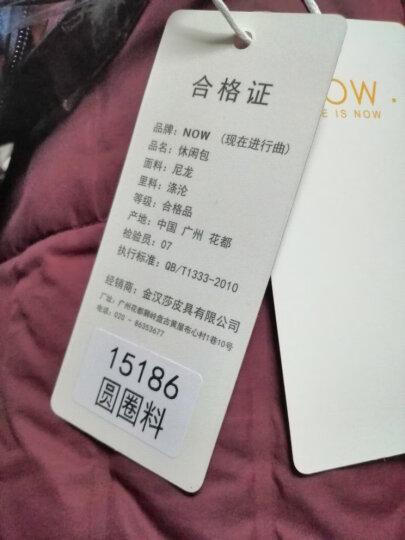 NOW新款双肩包女士背包时尚休闲旅行尼龙帆布包轻便防水15186 圆圈花色 晒单图