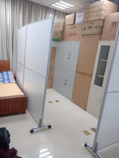美轩戈上海办公室隔断移动屏风可折叠移动高隔断板式隔墙屏风简约现代 全板式每平方不含脚 晒单图