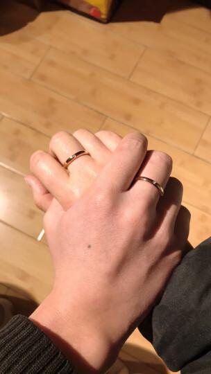 Leysen莱绅通灵珠宝钻石对戒 爱的加冕18K金钻戒 男女同款 单只 18K玫瑰金 19号 晒单图