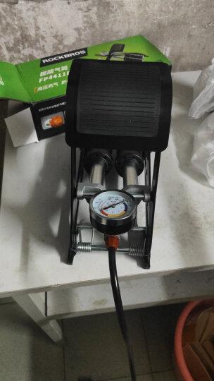 洛克兄弟(ROCKBROS) 便携脚踩打气筒高压打气筒高压双筒脚踏充气泵摩托车电动车打气 单筒脚踩打气筒 黑色 晒单图