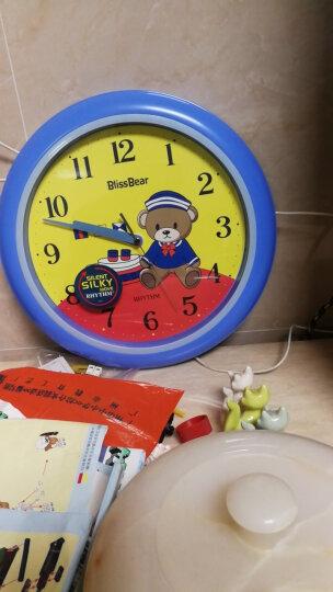 丽声(RHYTHM) 钟表 客厅卧室简约静音扫秒挂钟可爱卡通儿童房健康环保进口石英钟 23cm粉色公主CMG510BR13 晒单图