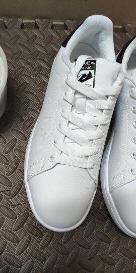 鸿星尔克erke男鞋 板鞋休闲运动鞋滑板鞋情侣小白鞋51116401106正白/正黑42码 晒单图