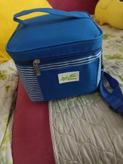 贝特阿斯 耐热玻璃 保鲜盒400*2+800ml 三件套 冰箱 微波炉适用  饭盒 RL3-01B 圆方蓝 条纹红包随机送 晒单图