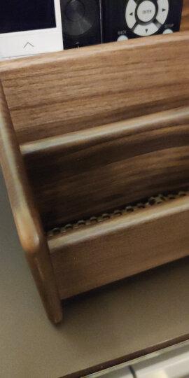 初心(CHOSIN)遥控器收纳盒实木桌面收纳盒客厅茶几整理盒化妆品收纳架小件收纳 遥控器收纳盒-胡桃木 晒单图