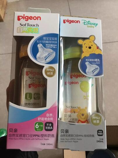 贝亲(Pigeon) 奶瓶 PPSU奶瓶 新生儿 宽口径 迪士尼 disney 240ml(米奇米妮约会) AA164 自然实感L码奶嘴 晒单图