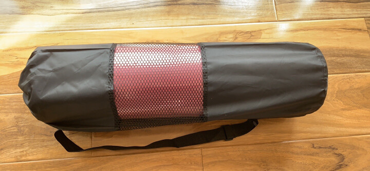 奥义瑜伽垫 加厚15mm舒适防硌健身垫 高密度防滑加长男女运动垫子 玫红(含绑带网包) 晒单图