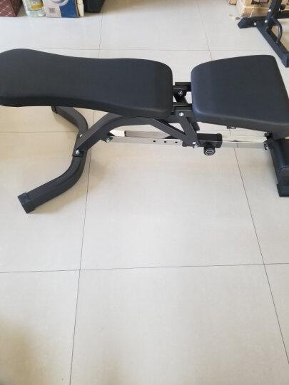 创思维 哑铃凳家用多功能健身椅专业杠铃平凳卧推床仰卧起坐板腹肌运动健身器材CSW9000 黑橙色(不含哑铃) 晒单图