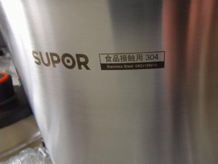 苏泊尔SUPOR巧易开304不锈钢高压锅22cm压力快锅7.6L压力锅燃气电磁炉通用D22E 晒单图