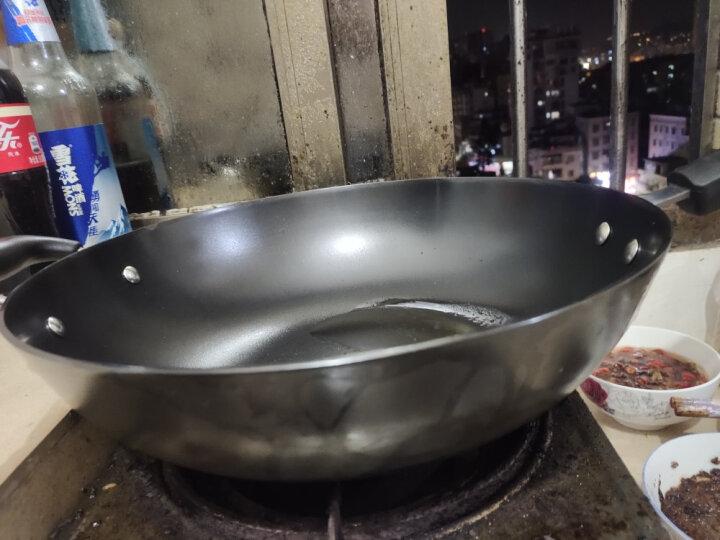 美的(Midea)炒锅 高纯度铸铁平底多用 无涂层底厚壁薄燃磁通用铁锅 32CM口径 CZ32B4 晒单图