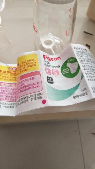 贝亲(Pigeon) 奶瓶 玻璃奶瓶 新生儿 标准口径玻璃奶瓶 婴儿奶瓶 120ml AA87 标准口径S码奶嘴 晒单图