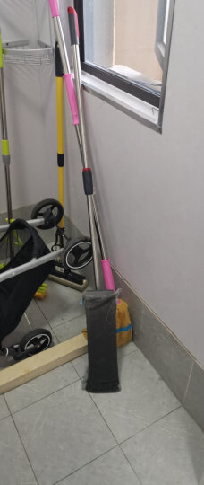 茶花 拖把 不锈钢杆细纤维平板拖 干湿两用静电除尘洁地拖 晒单图