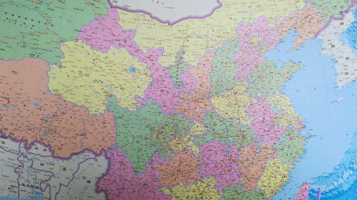 2020全新 中国地图挂图竖版 1.2*0.9米 双面覆膜 南海一体 晒单图
