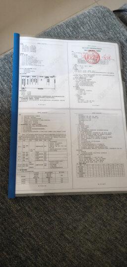 得力(deli)10只A4透明抽杆文件夹拉杆夹 简历报告夹资料夹33223蓝色 晒单图