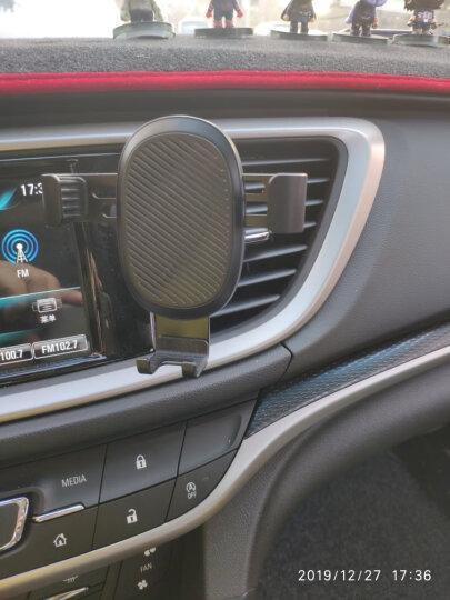 锐舞(RANVOO)车载手机支架 出风口导航支架汽车用品 金属夹臂自动重力卡扣手机夹 通用型车用手机支架 银色 晒单图