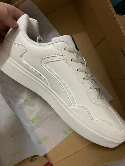 特步(XTEP)特步板鞋 男鞋20年官方春夏季运动休闲鞋小白鞋子男滑板鞋 白色9736 40 晒单图