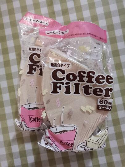 质惠日本进口咖啡滤纸 滴漏式咖啡壶滤纸 咖啡机过滤纸层析滤纸袋60片 晒单图