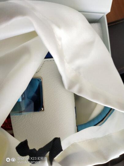哥弟女包2020春季新款牛皮拼色盒子包镜面宽肩带手提斜挎单肩包AB10061 黑黄 晒单图
