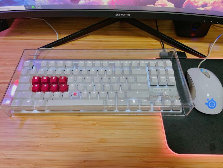 樱桃(CHERRY)MX8.0 G80-3880HSAEU-0 机械键盘 有线键盘 游戏键盘 87键背光  白色 樱桃青轴 晒单图