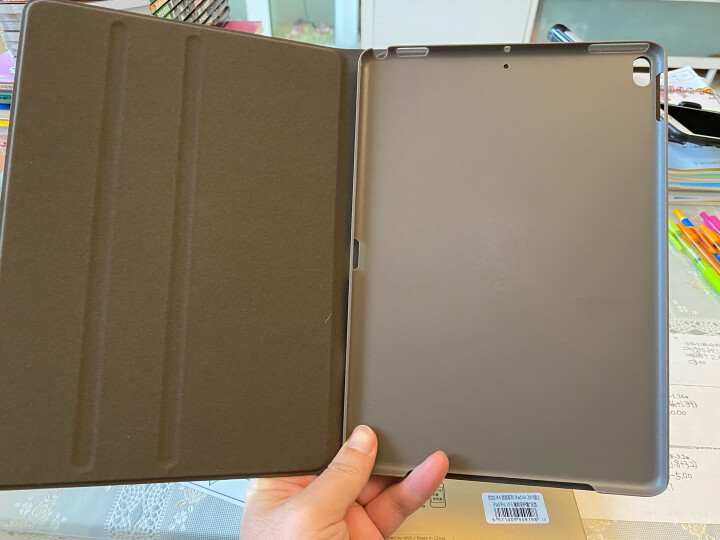优加 新款iPad Air 2019保护套苹果iPad Pro10.5英寸通用款保护壳轻薄防摔支架休眠皮套 畅系列 墨灰黑 晒单图