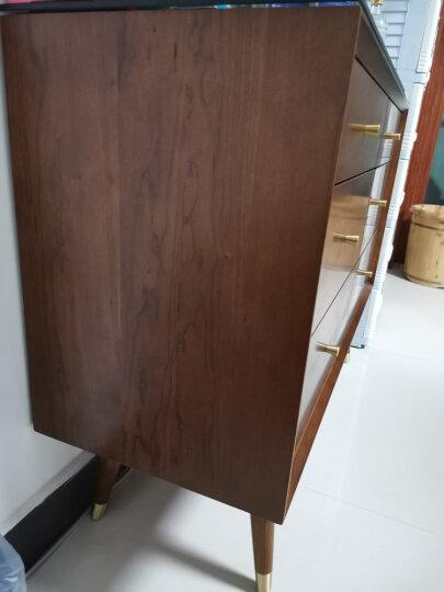 熙和实木斗柜简约储物柜高低斗柜复古五金把手环保水性漆卧室储物家具 5抽屉高斗柜 晒单图