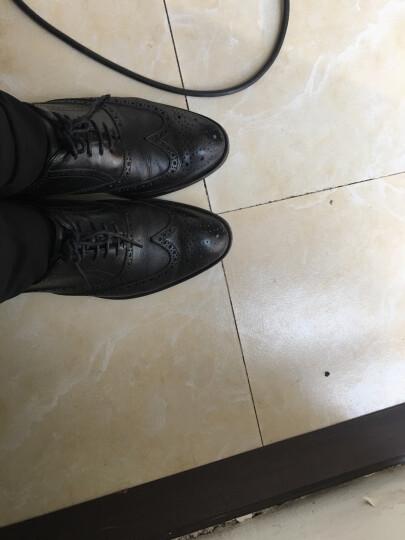 百丽男鞋(Belle)牛皮系带商务正装皮鞋男 婚鞋 布洛克鞋 休闲皮鞋53103AM7 黑色 39 晒单图