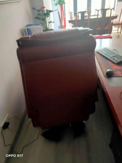 寳伽帝龍(BOGADION) 真皮可躺老板椅实木牛皮大班椅升降转椅按摩家用电脑椅办公椅子 黑色进口牛皮 晒单图
