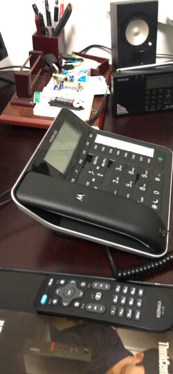 摩托罗拉(Motorola)录音电话机 无线座机 子母机 固定电话 办公家用 大屏幕 清晰免提 语音报号 C7501RC 晒单图