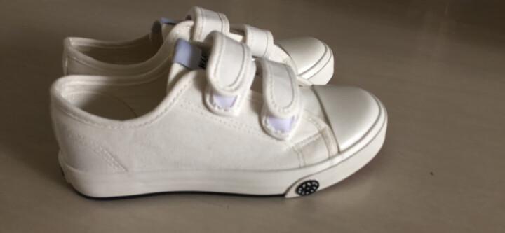 回力童鞋儿童帆布鞋低帮鞋球鞋男童女童运动鞋板鞋黑白色布鞋秋夏新款2020 白色 37/内长23.0cm 晒单图