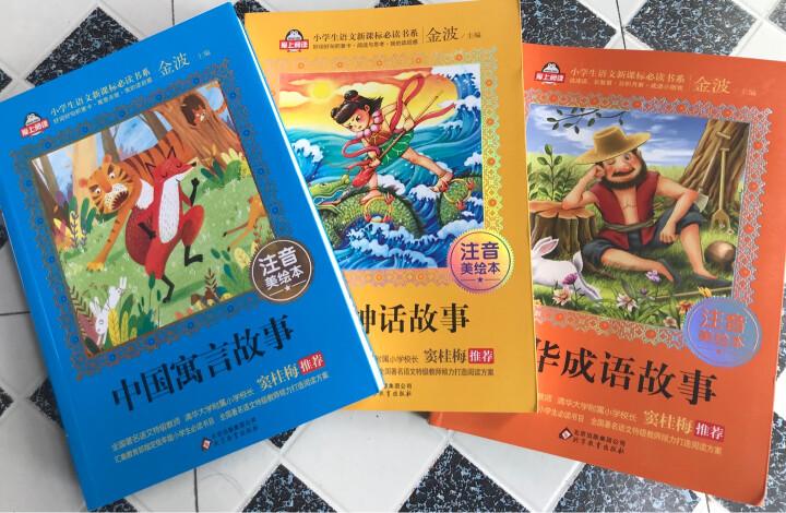 全集4册中国神话故事注音版带拼音课外书籍阅读老师推荐名人成语故事大全小学生版小学一二年级阅读经典书目 晒单图