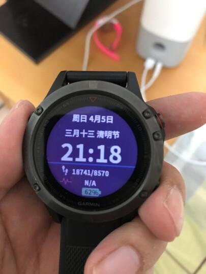 佳明(GARMIN)Fenix5光学心率GPS多功能北斗气压高度计三星定位登山跑步智能运动手表游泳户外中文普通版 晒单图