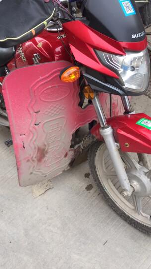 闽超 适用于125摩托车泡沫挡风板下挡风挡泥板摩托车前保险杠挡风板 防风保暖摩托改装配件 泡沫挡风板-蓝色 晒单图