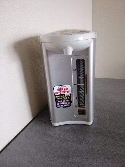象印(ZO JIRUSHI)电热水壶微电脑升级款五段式恒温电水壶瓶家用办公定时烧水壶 CD-WCH40C-SA银4L 晒单图
