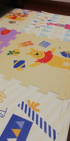 迪士尼DISNEY 宝宝爬行垫 XPE拼接款 加厚双面婴儿爬爬垫 地垫2cm 58*58*6片 晒单图