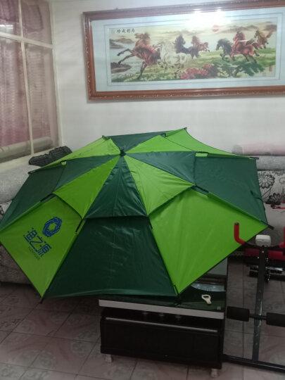 渔之源(Yuzhiyuan) 钓鱼伞2.4米防雨遮阳伞万向折叠渔伞户外垂钓渔具 【简约单层款】银胶加固-2.2米咖色 晒单图