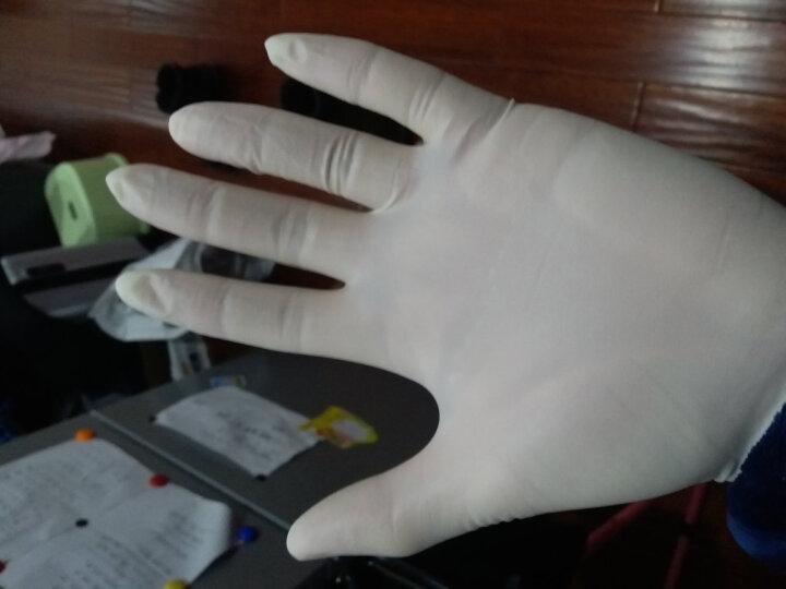 ANSELL 【安思尔旗舰店】医用橡胶手套一次性手术检查家务洗碗清洁乳胶皮无粉加厚手套100只/盒 457奶白色S 晒单图