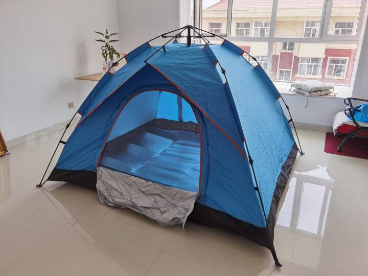 威迪瑞 全自动户外帐篷防雨双人野外沙滩帐篷免搭建3-4人帐篷套装 四人-套餐4(户外7件套) 晒单图