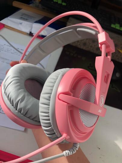 赛德斯(Sades)SA908 头戴式物理7.1声道游戏耳机 台式电脑USB电竞耳麦 震动游戏耳机 绝地求生吃鸡耳机 晒单图