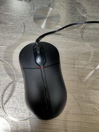现代(HYUNDAI)有线鼠标办公鼠标 适合大手光电人体工学鼠标HY-M106黑色 晒单图