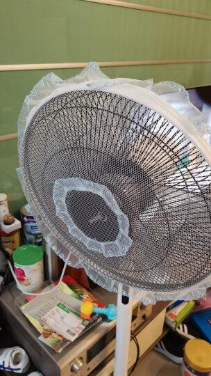 宜百利 电风扇罩 通用电扇安全罩子 台扇落地扇防夹手保护罩 适用16寸电扇防灰套子 蓝色蕾丝花边3103 晒单图